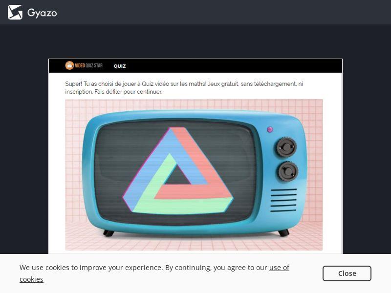 VideoQuizStar - Math Test - Mobile Quiz - Int'l - Incent OK