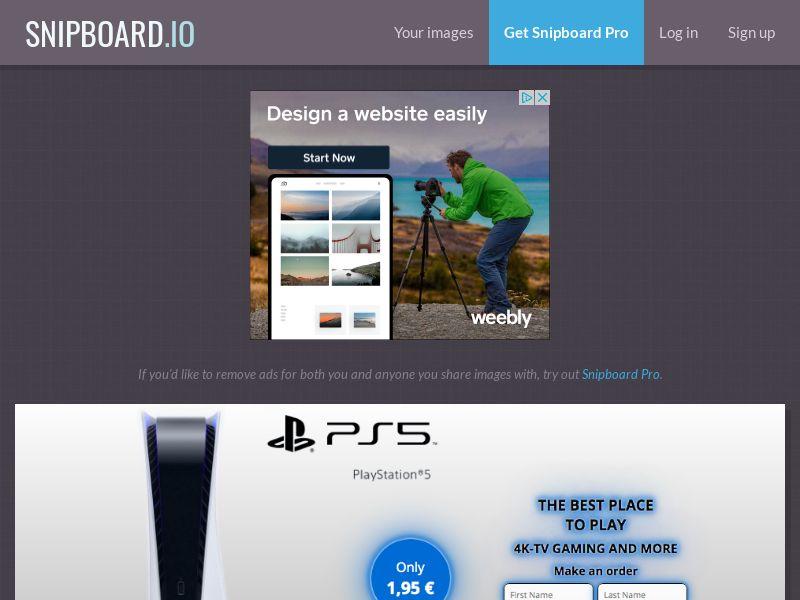 G33K Premium - Playstation 5 PS5 FR - CC Submit