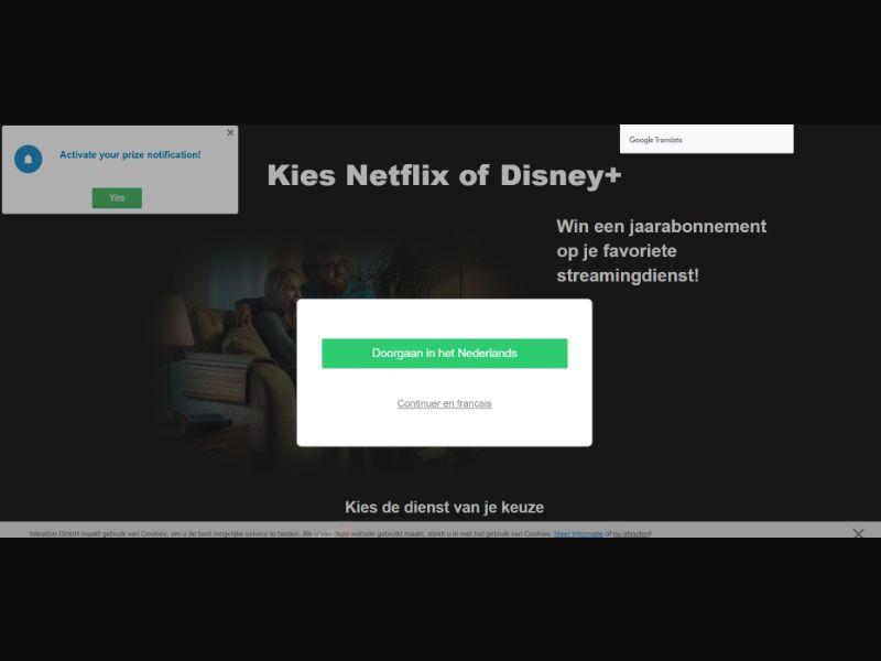 Netflix & Disney+ 1 year subscription BENL | SOI CPL