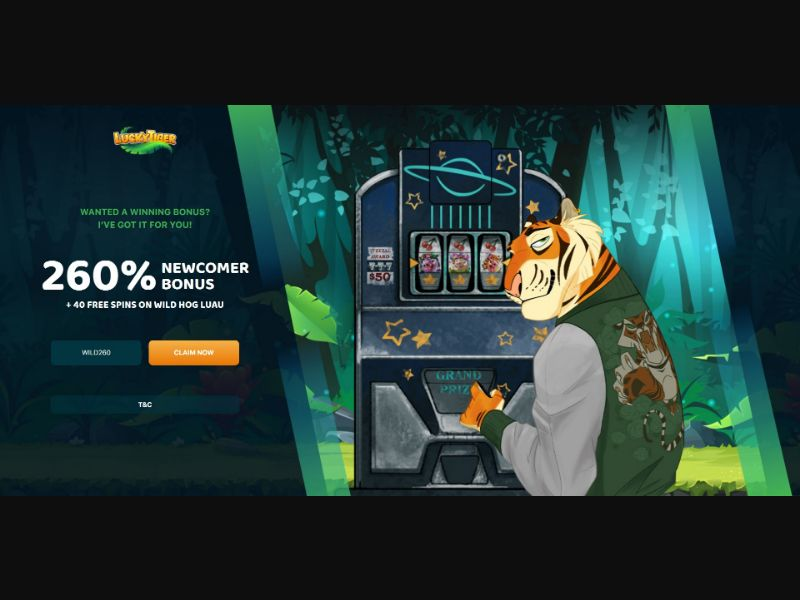 Lucky Tiger - Casino - SS - [US, UK, AU, NZ]