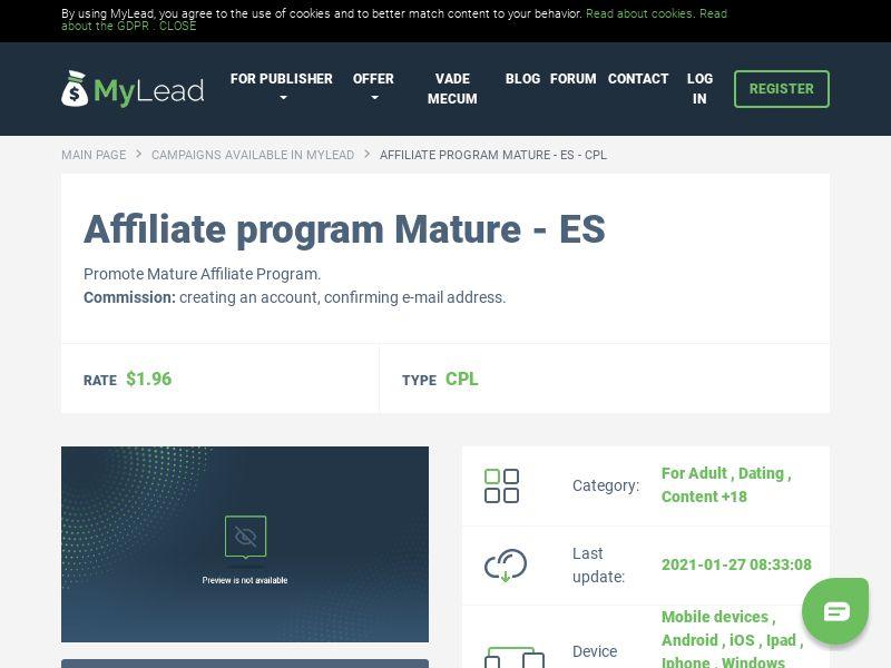Mature - ES (ES), [CPL]