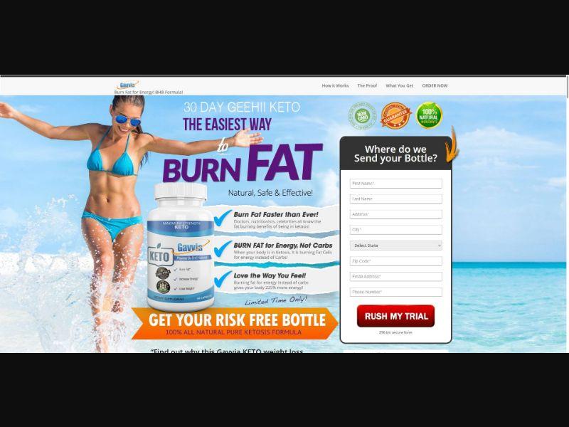 Gavvia Keto - V2 - Diet & Weight Loss - Trial - NO SEO - [US]