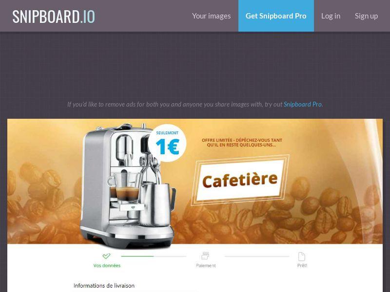 41340 - FR - Coffee Machine - LP18 - FR - CC submit