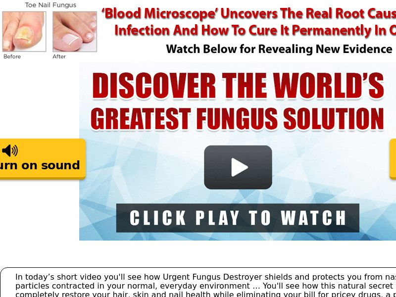 Urgent Fungus Destroyer (VSL) - SS - Multiple Geos - Fungus