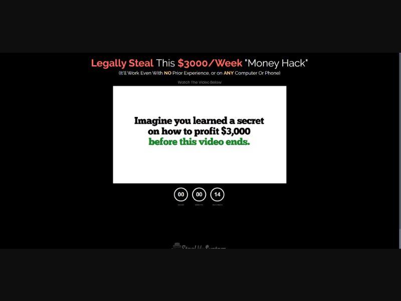 Steal My System - $67 CTC - VSL - Biz Opp - SS - [US, CA]