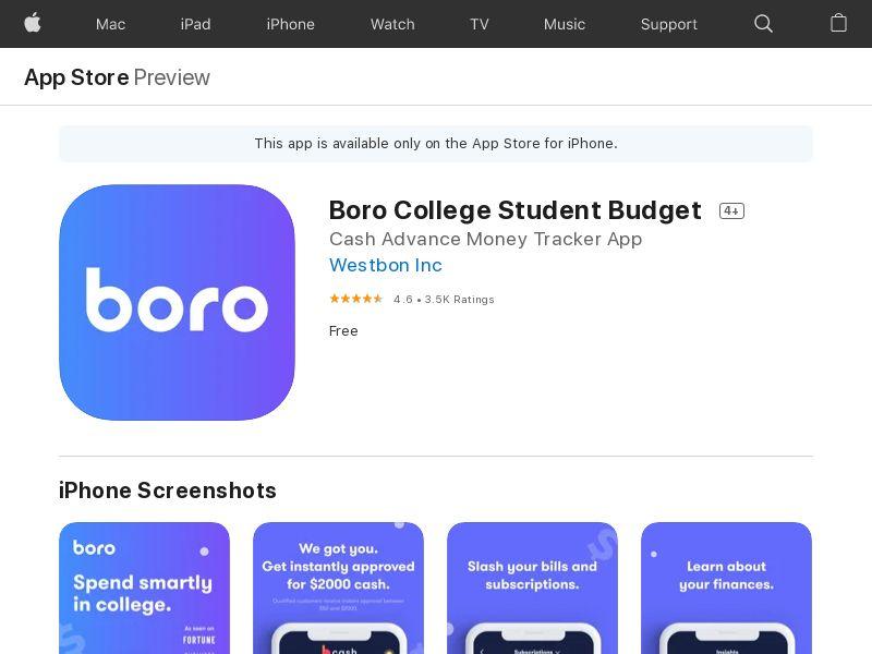 BORO - iOS - US - Static Banner - CPI