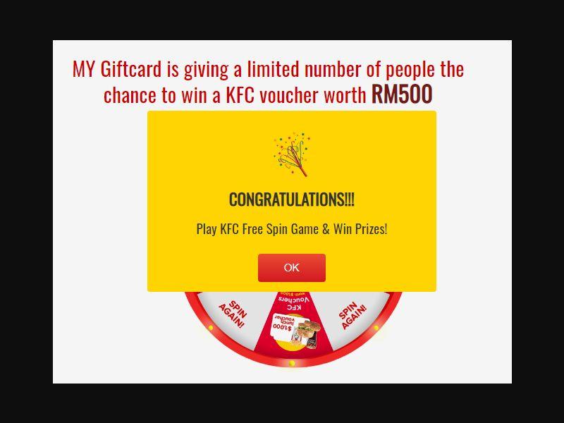 MY - Win KFC RM500 [MY] - SOI registration