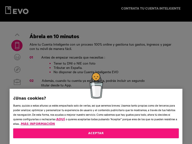 cuentainteligente (cuentainteligente.evobanco.com)