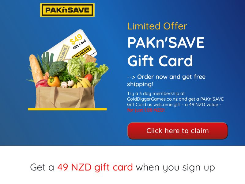 PAKn'SAVE (Supermarket Giftcard) - NZ