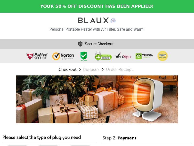 Blaux Portable Heater (CPS) - US, EU, UK