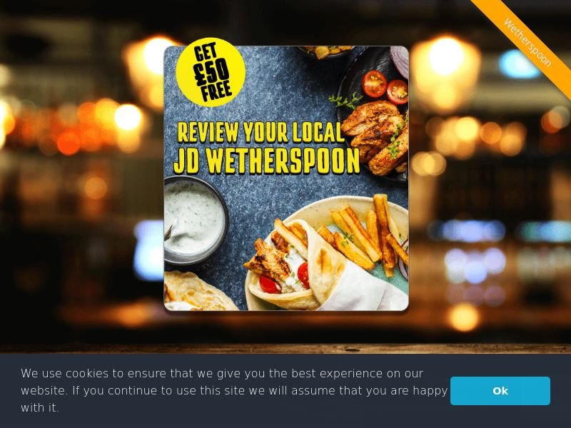 Wetherspoon - UK (GB), [CPL], Lotteries and Contests, Single Opt-In, paypal, survey, gift, gift card, free, amazon