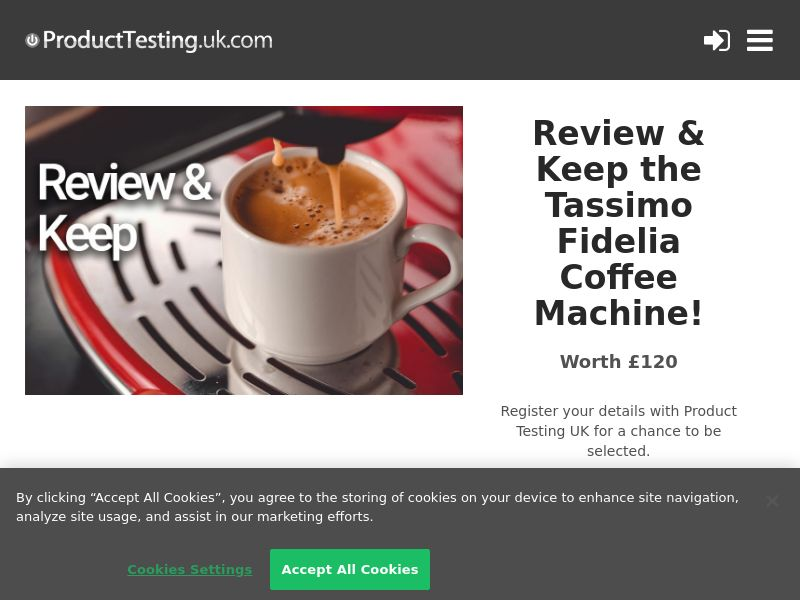 Email Submit - Tassimo Coffee Machine - SOI (UK)