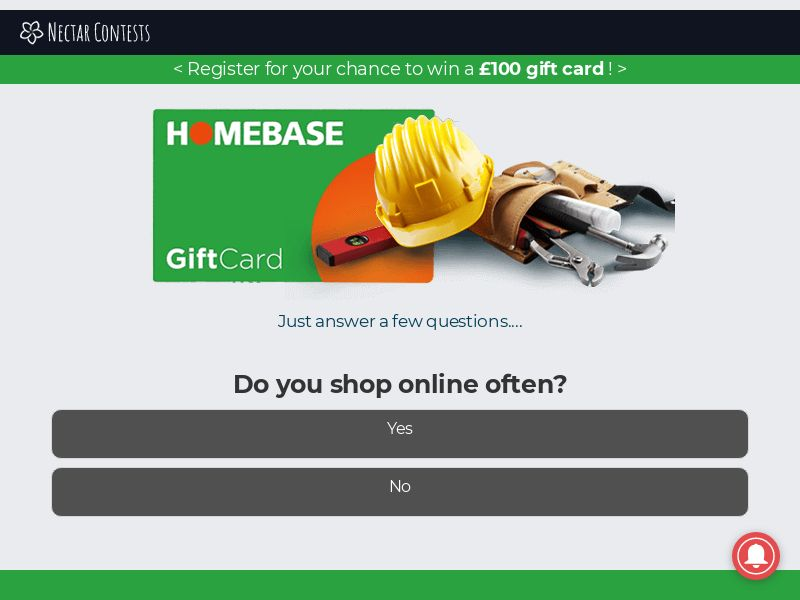 Homebase FB - UK (GB), [CPL], Lotteries and Contests, Single Opt-In, paypal, survey, gift, gift card, free, amazon