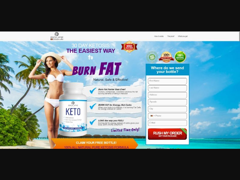 BioLife Keto - Diet & Weight Loss - Trial - [BE] - with 1-Click Upsell [Step1 $26 / Upsell $26]