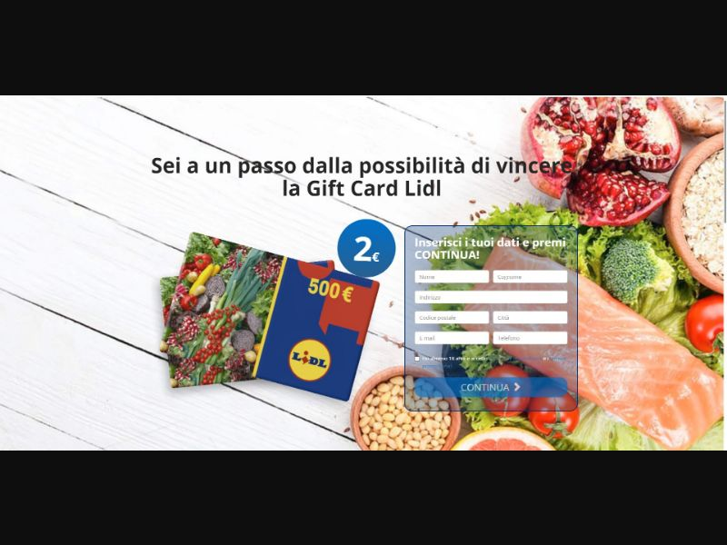 Lidl €500 GiftCard - Sweepstakes & Surveys - Trial - [IT]
