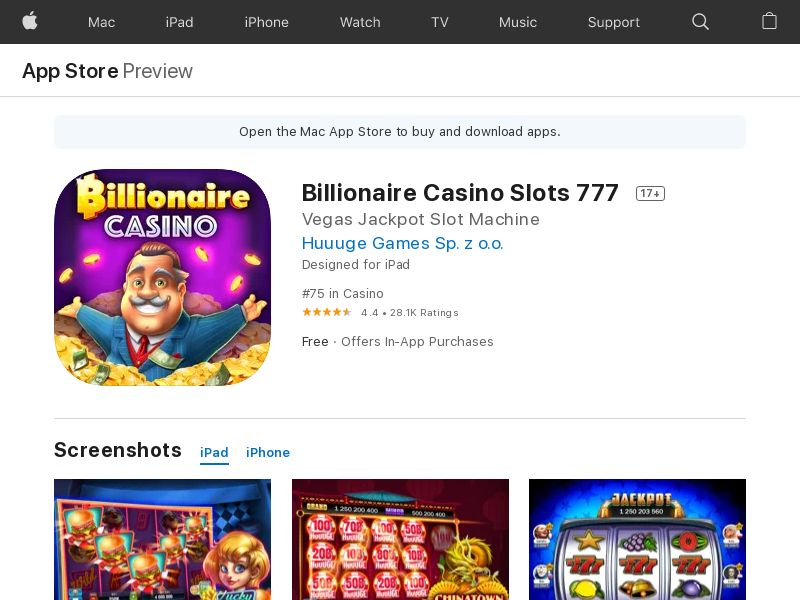 Billionair Casino Slots 777 - United States - iOS