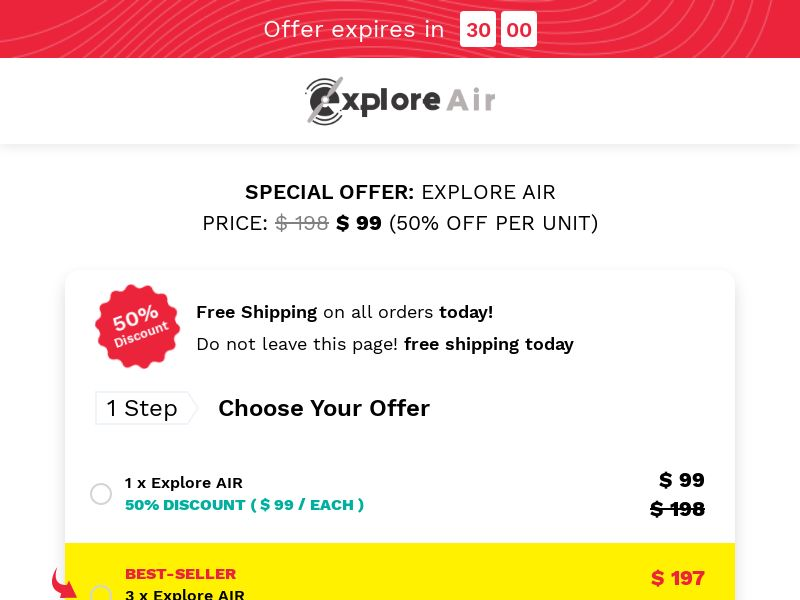 Explore Air Drone (CPS) - INT