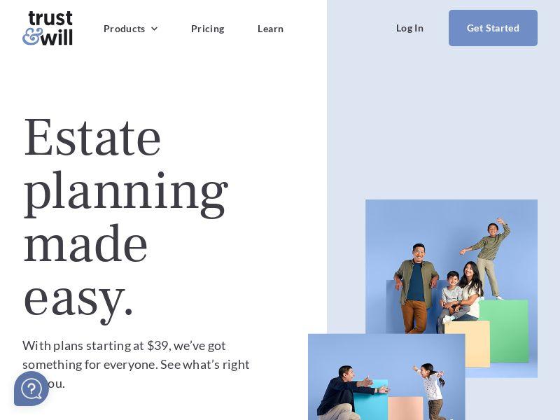 Trust & Will - Online Will Service -Revshare 12% - [US]