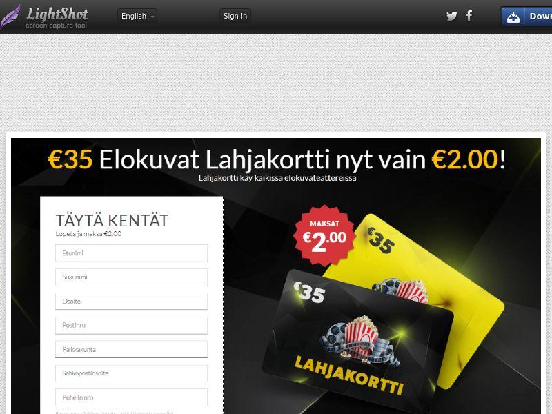 winlotsofthings Cinema Voucher (Sweepstake) (CC Trial) - Finland