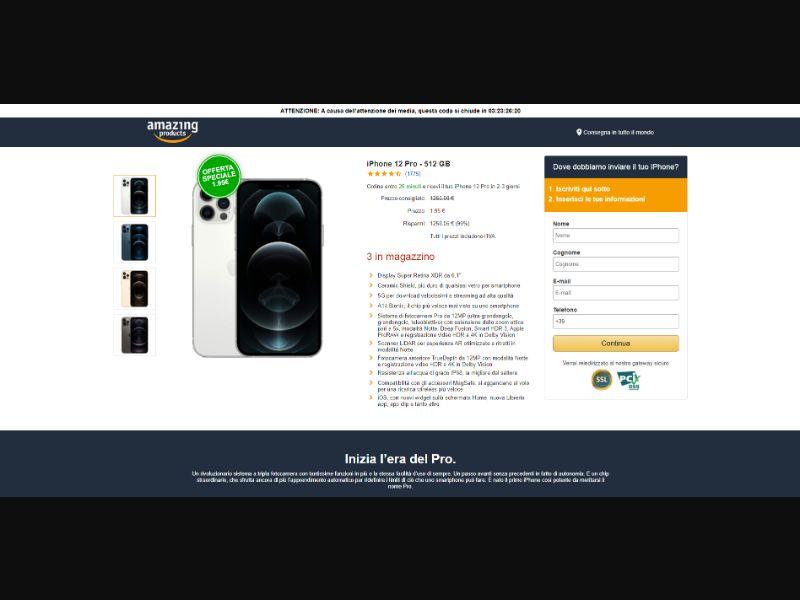 iPhone 12 Amazon [IT] - CC Submit