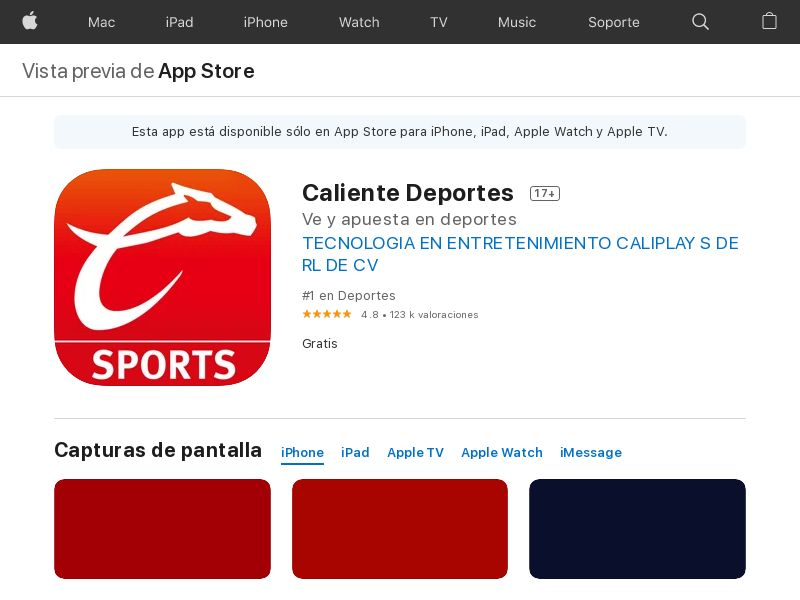 Caliente Sports MX iOS