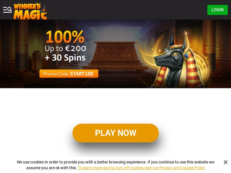 Winners Magic Casino - Exclusive offer START100 - CPA | NZ, IE, SLO
