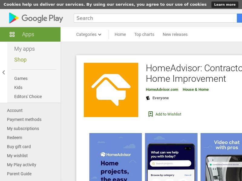 HomeAdvisor Android US GAID