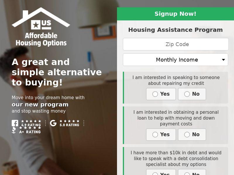 Affordable Housing Options (No Scrub)