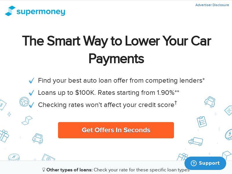 SuperMoney - Auto Loan Refinance