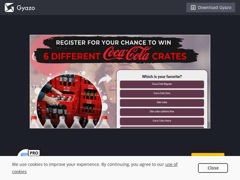 NectarContests - Win Coca Cola Crates (UK) (CPL) (Desktop)