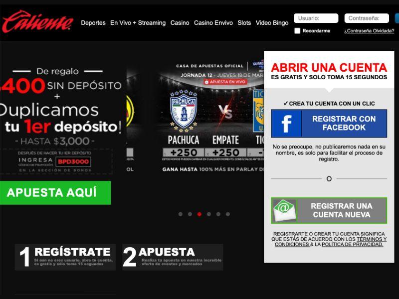 Caliente Sports [MX] - SOI registration