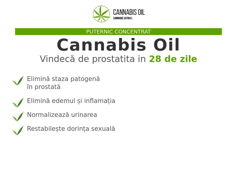 Cannabis Oil RO (prostatitis)