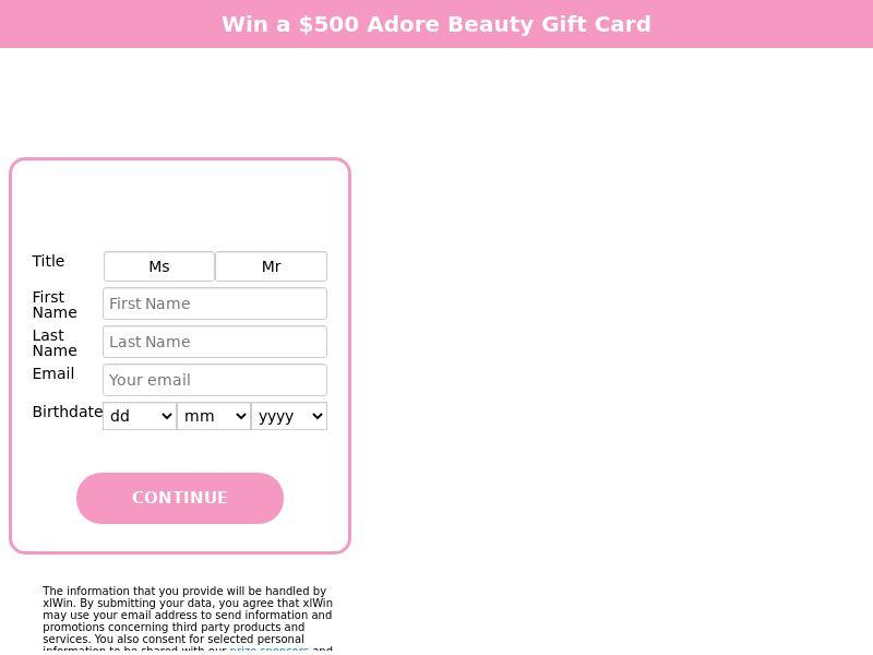 12783) [WEB+WAP] Adore Beauty - AU - CPL