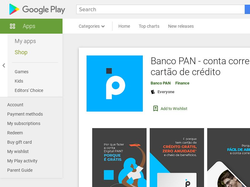 Banco Pan BR Android CPE (App Install + Open Account)