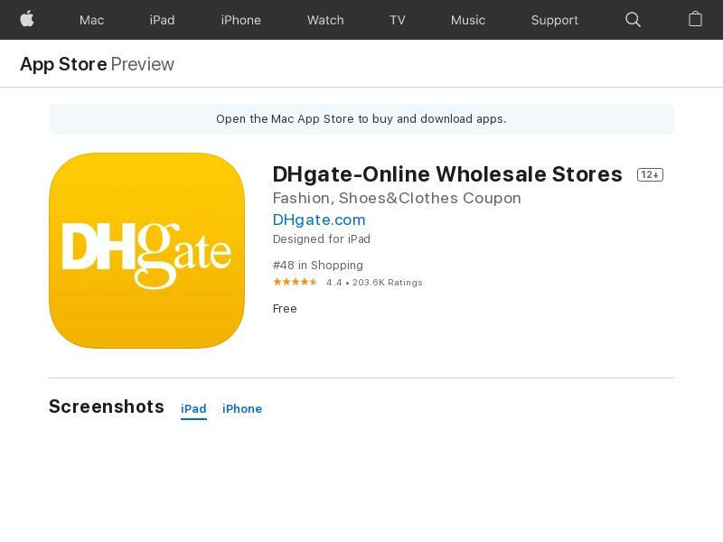 DHgate-Online Wholesale Stores iOS US