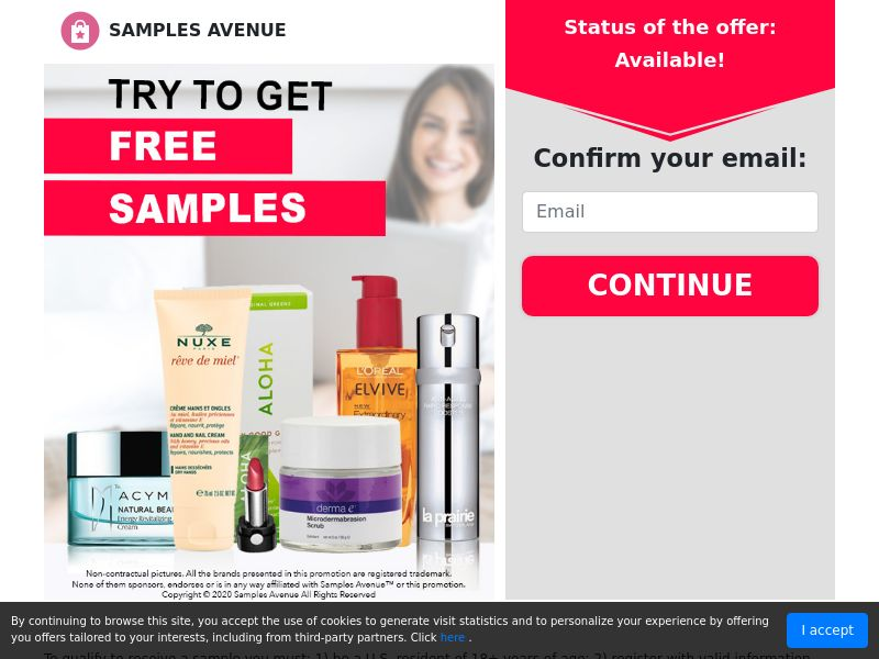 Get Free Beauty Products - Sweepstakes - US