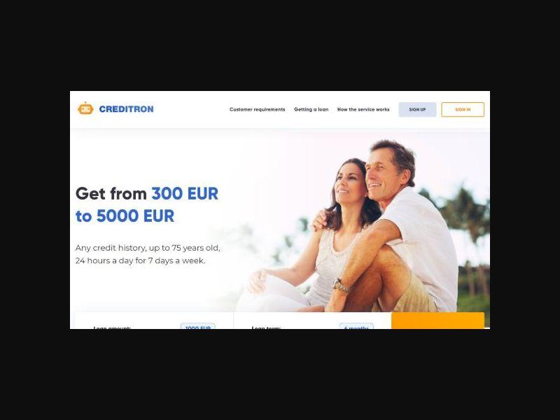 Creditron.org - Online Loans (Czech Republic)