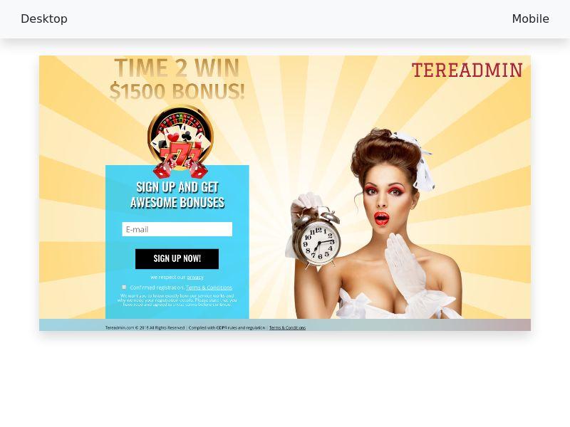 Tereadmin e-gaming casino SOI CPL desktop&mobile [CA]