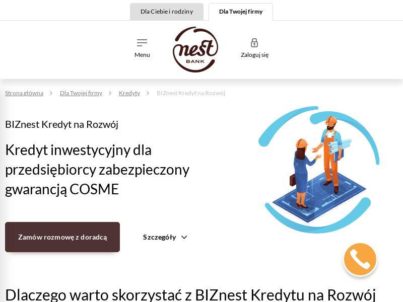 Nest Bank - BIZnest Kredyt dla firm (PL), [CPL], Business, Credit, Business credit, Call center contact, loan, money, credit