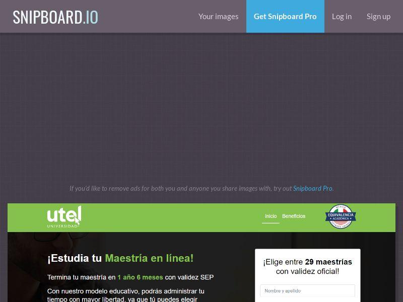 39678 - MX - Education - UTEL MAESTRIAS - SOI (Monthly 300 cap)
