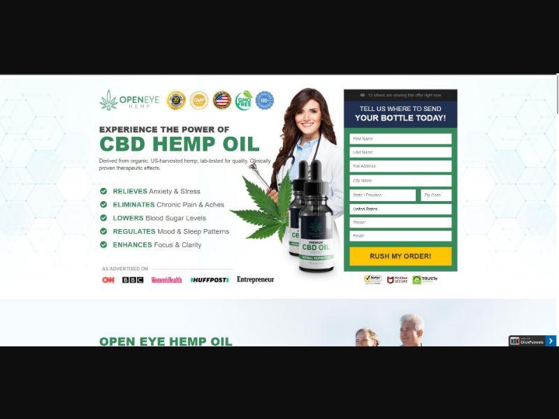 Open Eye Hemp Premium CBD Oil - CBD - SS - [US]