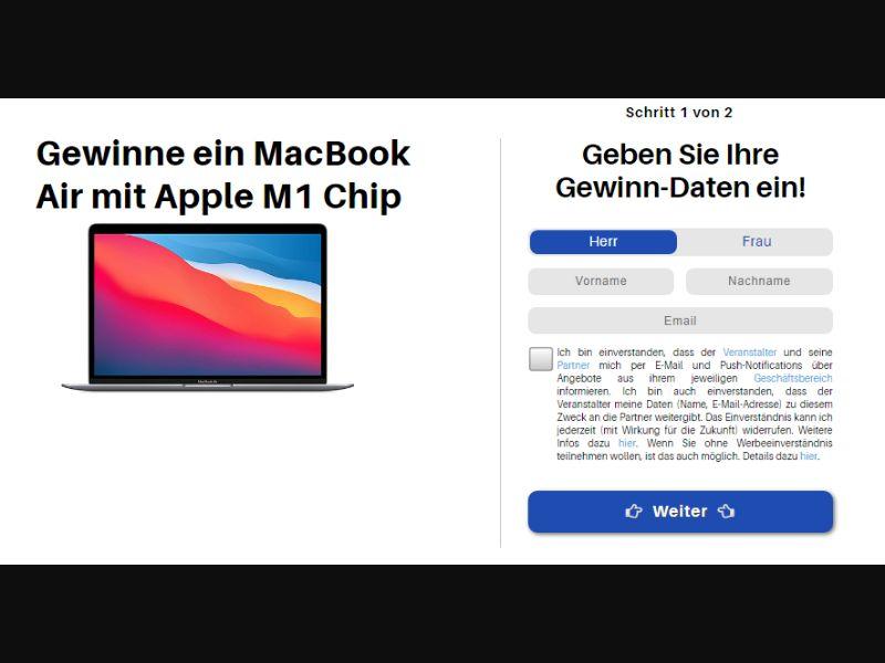 DE - Win MacBook Air M1 EXCLUSIVE [DE] - SOI registration