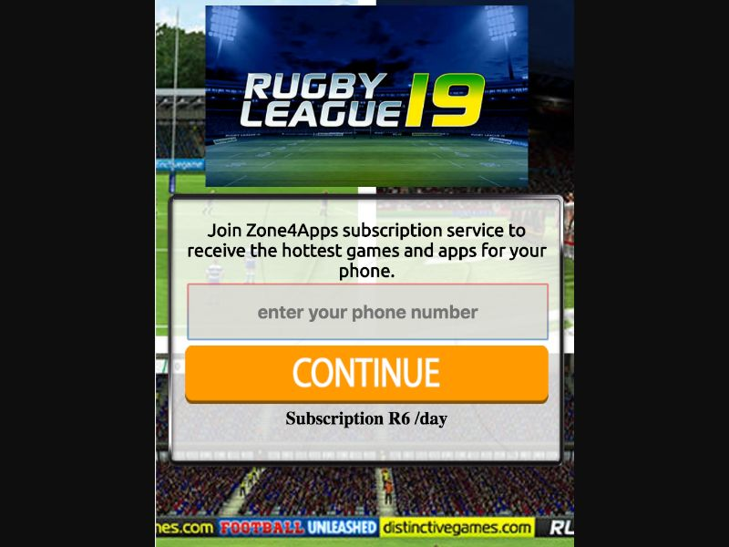 Rugby 2019 - 1 click - ZA - CellC - Online Games - Mobile