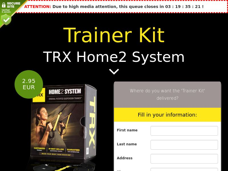 TRX Home2 System: Trainer Kit - IE