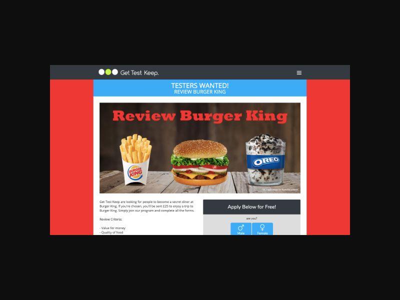 OfferX - Review Burger King (UK) SOI