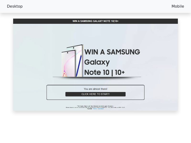 Sweepstake Samsung Galaxy Note 10 10+ - CPL/SOI - [SE]