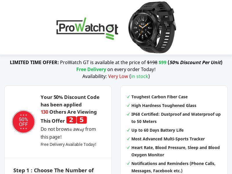 ProWatch GT - Best Deal Today