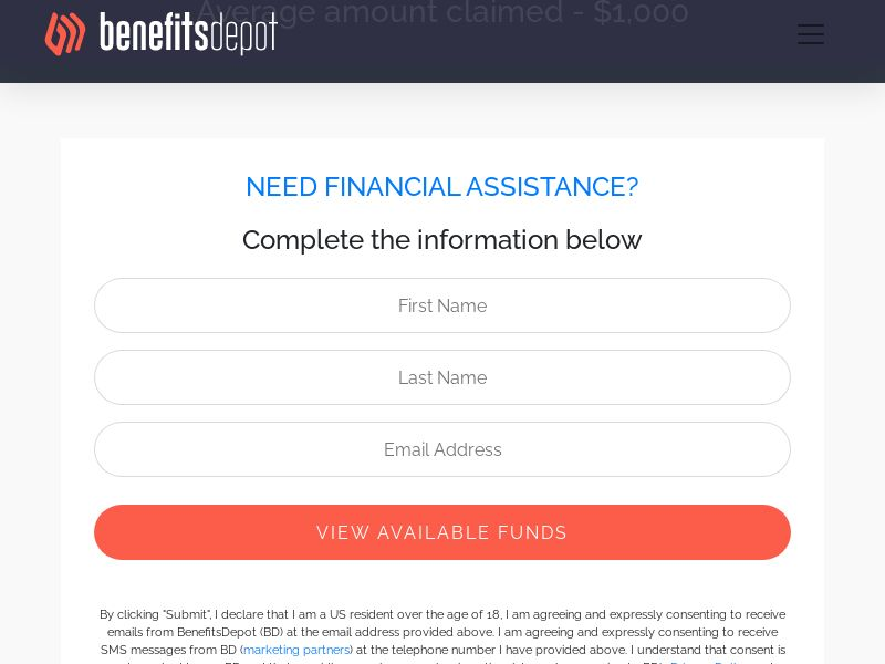 Benefits Depot - Financial Assistance (US) (CPL) (Personal Approval)
