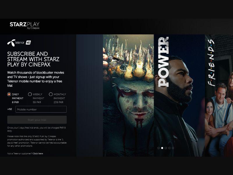 StarzPlay Telenor [PK] - Free trial
