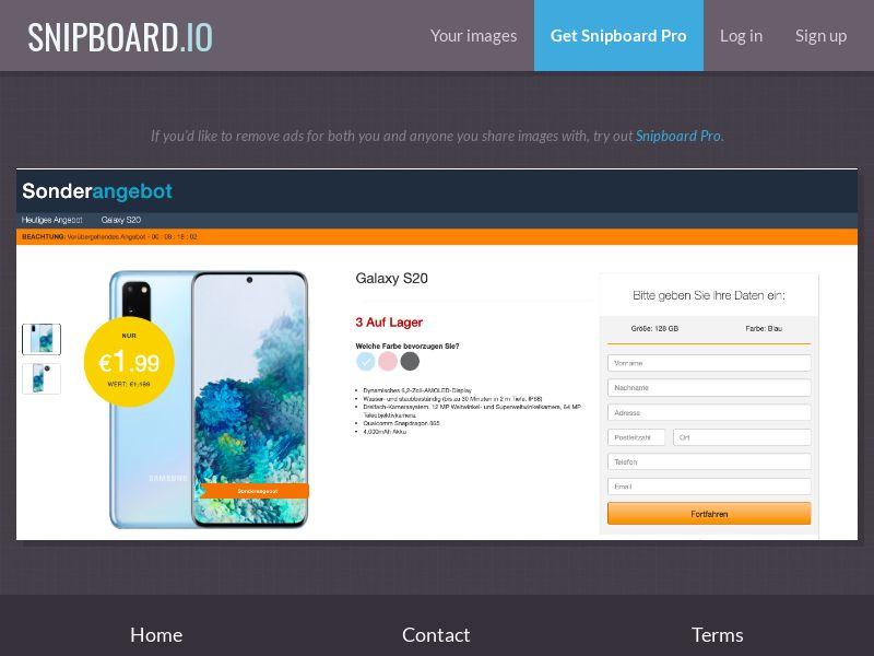 38128 - DE - BSW - Amazon Samsung Galaxy S20 - CC submit